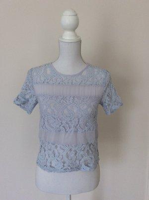 Hellblaues Transparentes Shirt