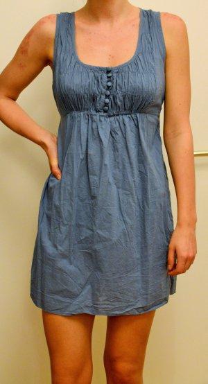 hellblaues Vero Moda Babydoll-Kleid mit Knopfleiste an der Brust Größe S