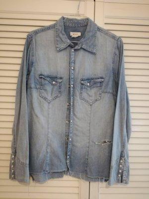 Hellblaues Vintage-Jeanshemd