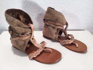 Blink Toe-Post sandals camel leather