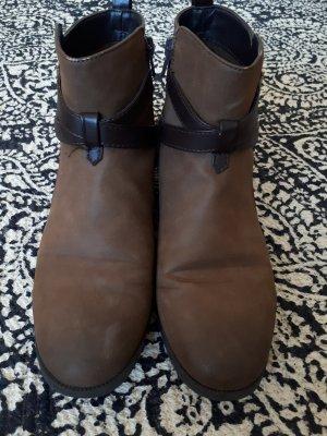 H&M Chelsea Boot brun sable-marron clair faux cuir
