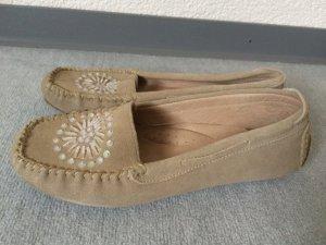 hellbraune / braune Halbschuhe / Ballerinas von Alba Moda -Gr. 38