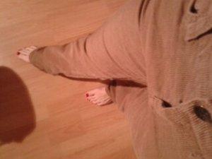 Esprit Pantalón de pana beige-camel