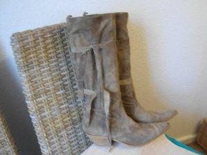 Botas estilo vaquero beige Gamuza