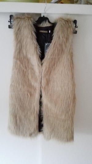 Hellbraune Fellweste Größe 38 M Neu und mit Etikett
