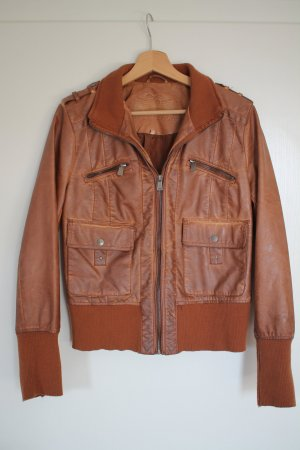 Fritzi aus preußen Biker Jacket bronze-colored imitation leather
