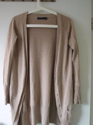 Zara Veste en tricot beige coton