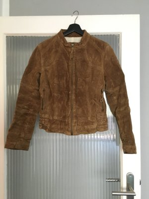 Zara Leather Jacket light brown leather
