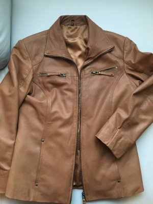 Leather Jacket light brown leather