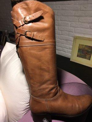 Jackboots light brown leather