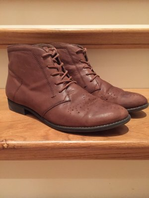 s.Oliver Lace-up Booties brown-light brown leather