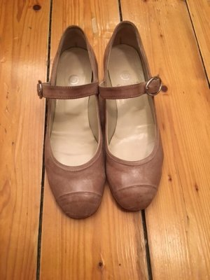 gidigio Mary Janes light brown-beige leather