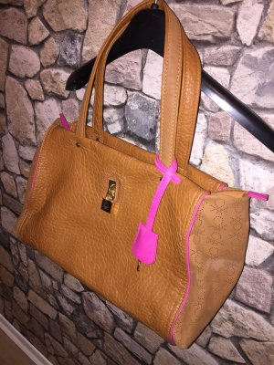 Hellbraune Pinke Handtasche