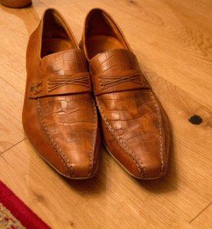 Hellbraune Schuhe in 43 von Görtz und echtes Leder #Görtz