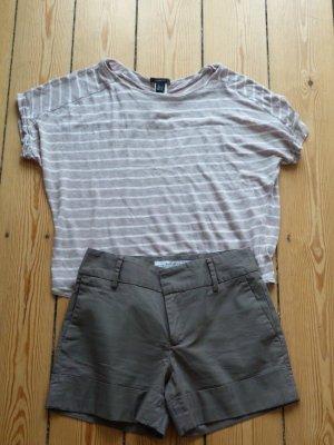 Hellbraune Zara-Micro-Shorts (Gr. S)
