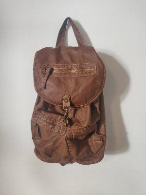Primark School Backpack bronze-colored-light brown