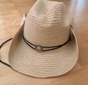 Hellbrauner Cowboy Hut mit Stein aus Italien