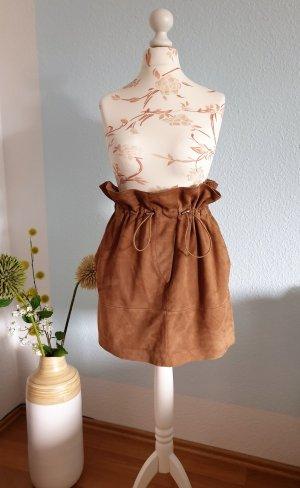 Mango Leather Skirt multicolored leather