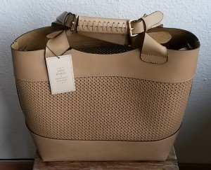 Zara Woman Borsa larga marrone chiaro-color cammello Pelle