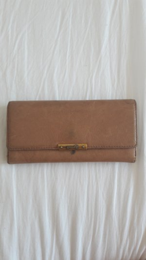 Fossil Wallet camel-olive green leather