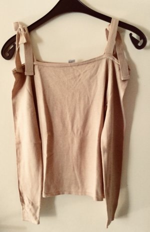 H&M Divided Top sin hombros beige-nude