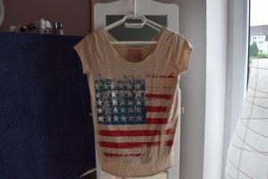 hellbraunes T-shirt USA-Flagge