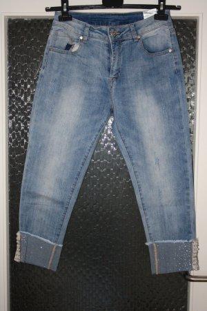 7/8-jeans lichtblauw-azuur