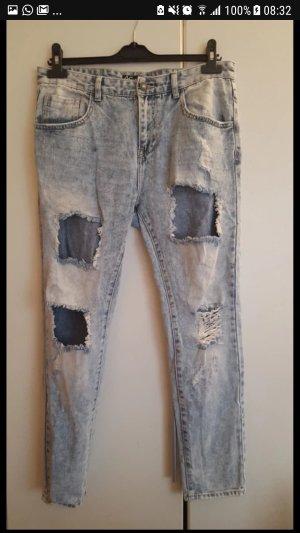 Ann Christine Boyfriend Jeans white-azure