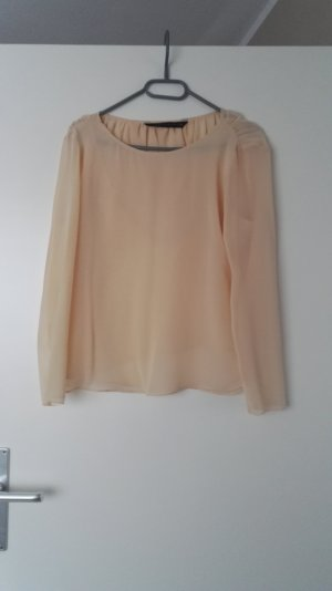 Helle Chiffon Bluse in Apricot