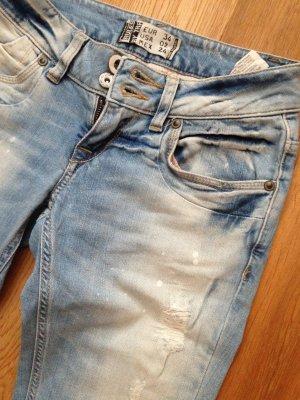 helle Jeans in coolem Look von Kult Größe: 34 (XS) Länge: 32