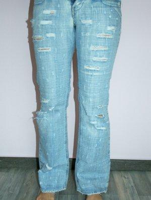 Helle Jeans mit Rissen von Anna Biagini Italia