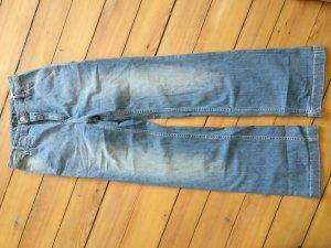Helle Jeans, Schlaghose, highwaist, stonewashed, Gr. 36