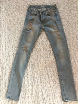 Helle Jeans (Skinny Low Waist) mit cut-outs von H&M