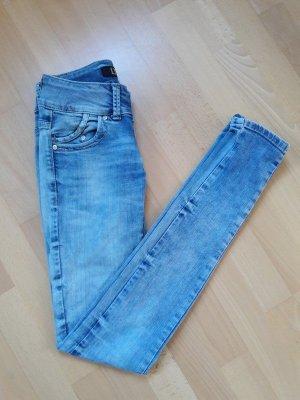 LTB Jeans cigarette bleu fluo-bleuet coton
