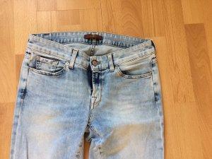 7 For All Mankind Jeans a sigaretta blu-azzurro