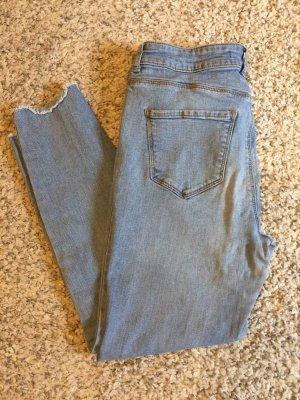 Vero Moda Jeans taille haute bleu azur-bleuet