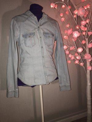 H&M Divided Blouse en jean bleu azur