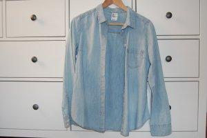 HM Blouse en jean bleu pâle-gris ardoise