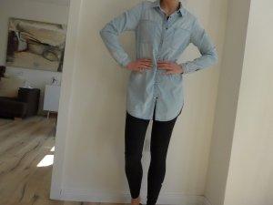 Helle Jeansbluse von Review Gr.: S