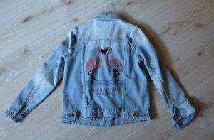 Review Veste en jean rose-bleu azur