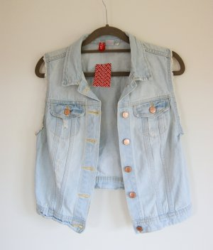 H&M Divided Gilet en jean multicolore coton