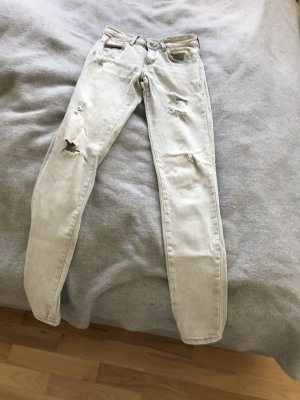 Mango Low Rise jeans lichtgrijs