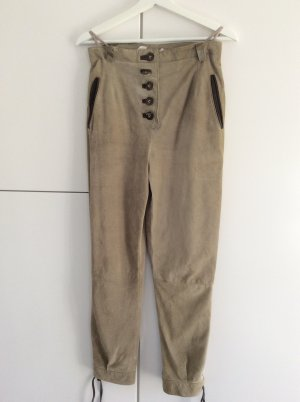 Traditional Leather Trousers camel leather