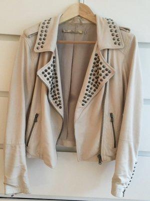 helle Lederjacke von Zara