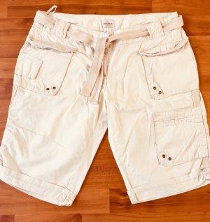 helle, leichte Shorts für Damen, Größe 42, Freizeithose, hellbeige, Baumwolle