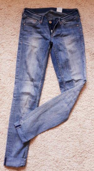 H&M Vaquero skinny azul claro tejido mezclado
