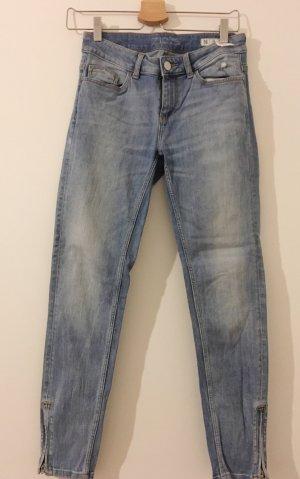 Zara Jeans skinny bleu clair-bleu