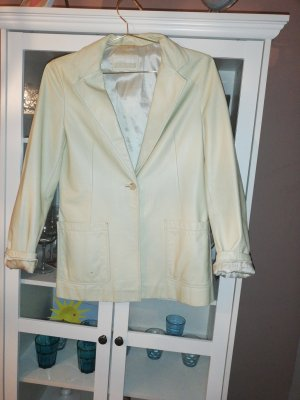 Closed Leather Blazer pale yellow