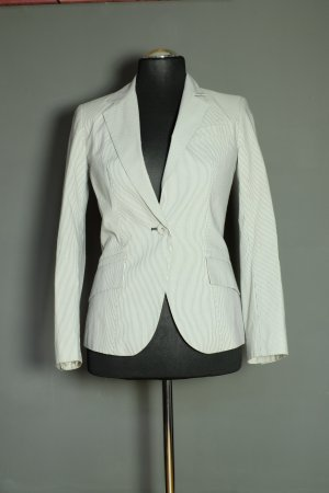 Zara Trouser Suit white-dark blue polyester