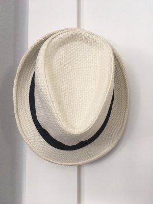 Chapeau de soleil blanc cassé-noir